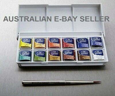 *Winsor & Newton Cotman WaterColour Sketchers 12 Pocket Box Set Water Color*