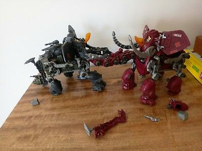 2 Tomy zoids mammoths collectable 1980's toy models