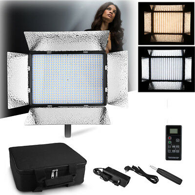 600 Bi-Color Dimmable LED Video Light Panel 3200K-5600K For Studio Photography