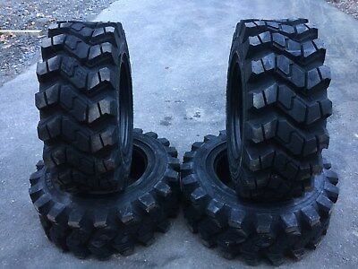 4 Camso SKS753 12-16.5 Skid Steer Tires for Bobcat- 12X16.5 - good snow traction
