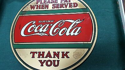 1920's-1930's Coca Cola Reverse Painted Glass Sign, Wonderful!!!