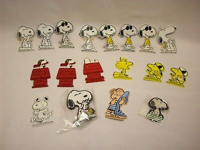 Snoopy Peanuts 18 pc rubber magnet LOT 30