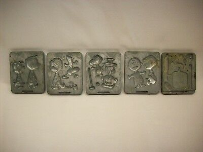 Snoopy Peanuts 5 pc metal plates molds (for Mattel Cartoon Maker)