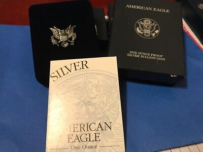1997 American Eagle Silver Proof  Coin Box And COA Only! No Coin