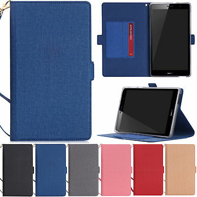 Hand Strap Leather Case Stand Cover For Huawei Mediapad T3 7.0 3G BG2-U01 Tablet