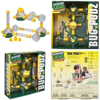 Backyard Safari Bug Habitat 34pcs backyard safari bug podz habitat construction set tubes