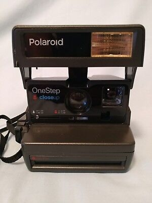 Polaroid One Step Close Up Camera Flash 600 Film Instant Photo Vintage TESTED