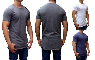 fc027c9b6ae Mens Tall Tees Top Extra Long Length Slim Fit Gym Fashion Shirt Muscle  Causal