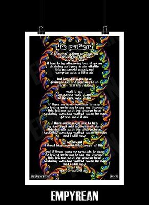 TOOL THE PATIENT Lateralus Song Lyric Poster Original FAST FREE SHIPPING
