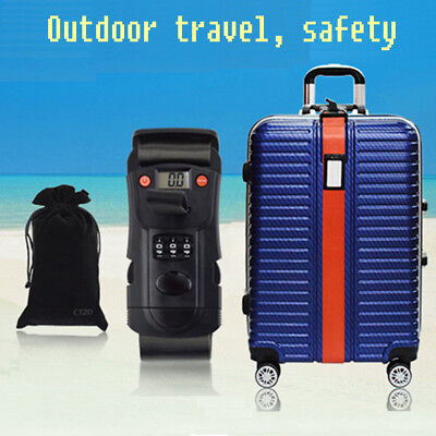 Hot Travel Luggage Suitcase Password Secure Lock Nylon Packing Strap Belt