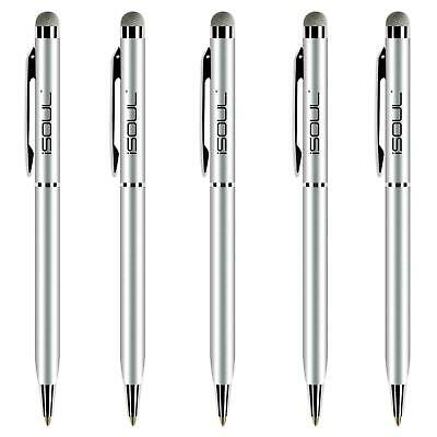 5x Universal Touch Screen Stylus Micro-Fibre Tip Ball Pen For Mobile Phone Tab