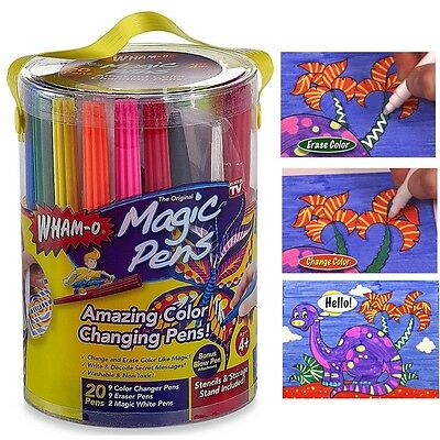 Magic Pens Color Marker Changing Eraser Fun Kids Creative Painting By Wham-O New