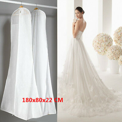 Extra Large Wedding Dress Bridal Gown Garment Breathable Cover Storage Bag CE