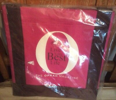 "Tote Bag, Beach Bag, Grocery Bag. Oprah Logo ""O""  ""Live Your Best Life"",  Pink"