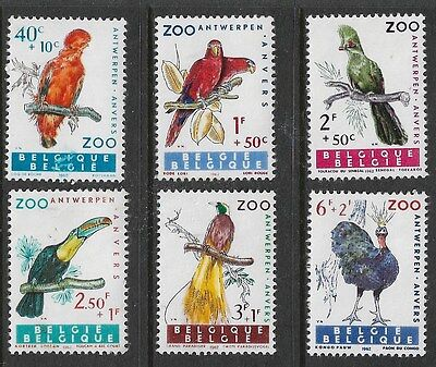 BELGIUM   1962 Antwerpe Zoo  set (Mint) NO GUM