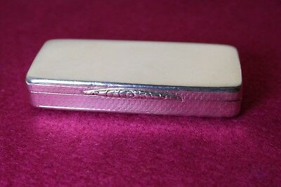 William Iv Solid Silver Snuff Box By Nathaniel Mills 1837