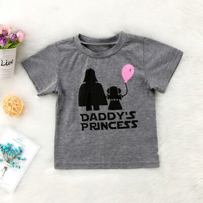Hot Star Wars Baby Girls Summer T-shirt Tops Casual Cotton Graphic T shirt Tee