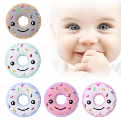 Silicone Donut Teether Food Grade BPA Free DIY BabyTeether Toy Necklace Pendant