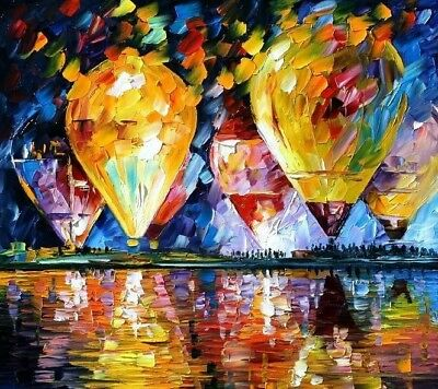 Paint by Numbers Kit 40x50cm with FRAME - Balloon Festival
