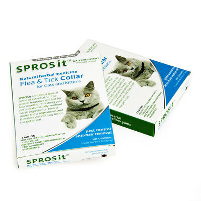 Brand New SPROSit Natural Herbal Medicine Flea & Tick Collar for Cats 56cm