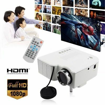 Full HD 1080P Lumen LED 3D Beamer Projektor-Projector HDMI*2/USB*2/VGA/TV EU