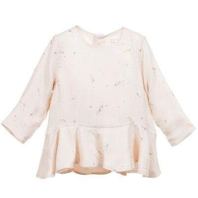 Chloe Baby Ivory Feather Print Blouse Top 3 Years