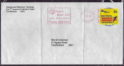 PRIVATE POST 2000 40c PETE'S POST Ltd label commercial used cvr locally TAURANGA