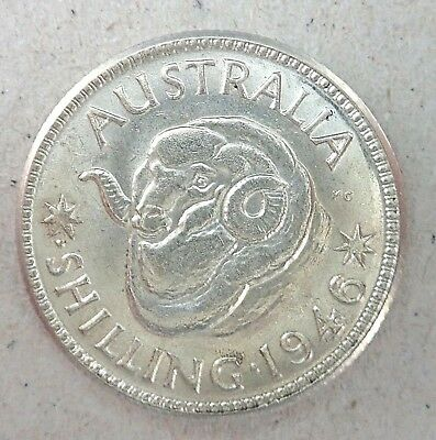 1946 Perth Shilling Coin  - Almost Uncirculated Condition