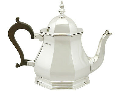 Antique 1920s Queen Anne Style Sterling Silver Teapot