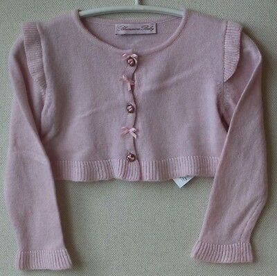 Blumarine Baby Pink Wool And Cashmere Cardigan 12 Months