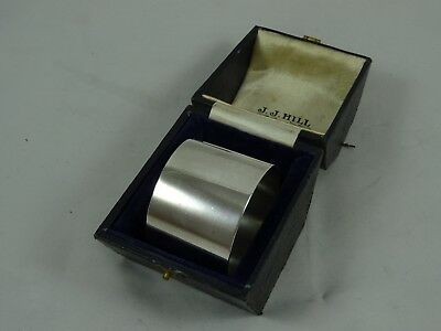 QUALITY solid silver BOXED NAPKIN RING, 1915, 43gm - BARNARD FAMILY