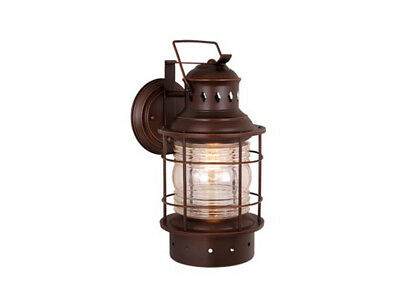 hyannis outdoor wall light sconce nautical burnished bronze vaxcel
