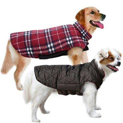Dog Jackets Winter Waterproof Reversible Coat Warm Clothes SMALL to EXTRA LARGE