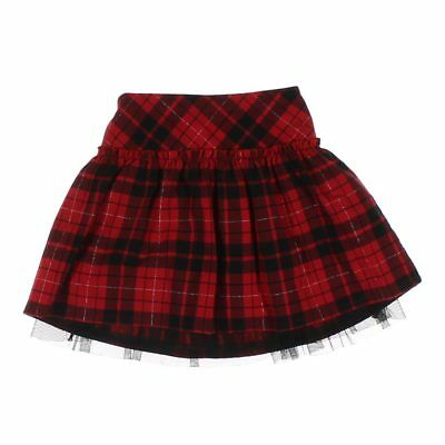 Cherokee Girls Skirt, size 4/4T,  black, red,  cotton, polyester, rayon, spandex