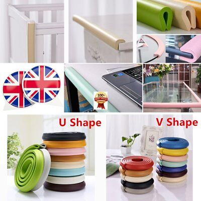 Baby Safety Foam Glass Table Corner Guards Protectors Soft Child Kids Edge 2M EK