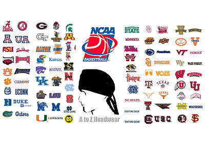 NCAA College Teams Traditional Tie-Back Unisex Surgical Scrub Hat Cap (LARGE)