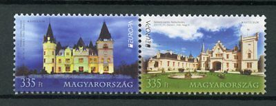 Hungary 2017 MNH Castles Europa Castle 2v Set Architecture Tourism Stamps