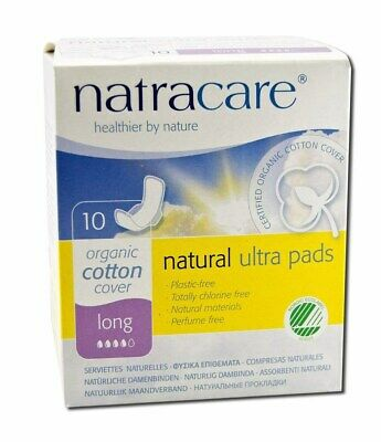 Natracare Natural Pads Ultra Long With Wings - 10 Pads