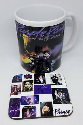 Prince purple rain  coffee  mug  with coaster