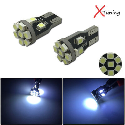 2pcs HID White 360°13-SMD 168 W5WB 2825 LED Bulbs For Car License Plate Lights