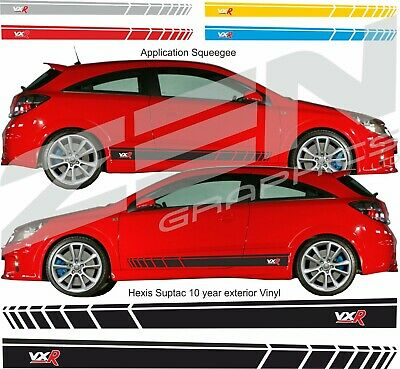 Vauxhall Astra H MK5 VXR 2 litre Turbo Side Stripes Graphics Decals Stickers