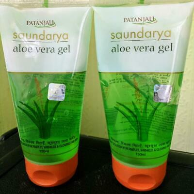 2x150ml Patanjali Herbal ALOE VERA Face Gel Natural Glow on face FAST AND FREE
