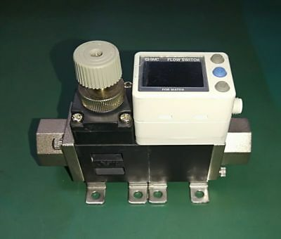 SMC PF3W704-N03-C-MR Digital Flow Switch w/ Flow Adjustment Valve
