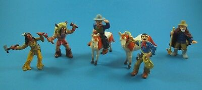 Set Bullyland 7 Figuren Indianer, Cowboys, Pferde