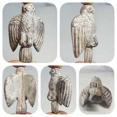 Very Old Wonderful Bactrian Falcon Stone Stunning Pendant  # D2