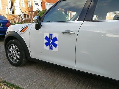 Star Of Life MAGNET MAGNETIC Ambulance Sign Paramedic SOL First responder 300mm