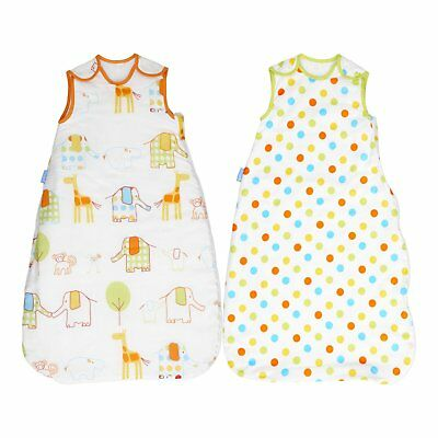 Grobag 1.0 + 2.5 Tog Day & Night TWIN PACK  Hippo Hop 0 6, 6 18, 18 36 months