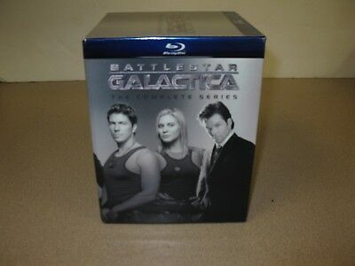 Battlestar Galactica Complete Series Full All Seasons Blu-Ray Silver Box Set NEW