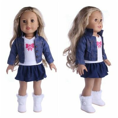Outfit Dress Jeans Clothes for 18' American Girl Our Generation My Life Doll New