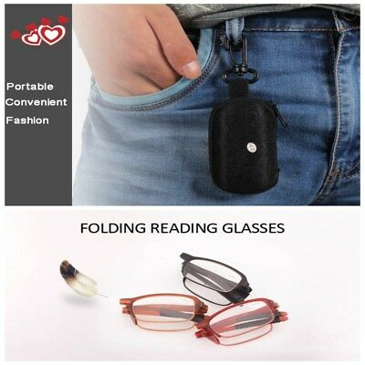 Newest Reading Glasses Folding Frame Portable Men Women With Box Spectacles